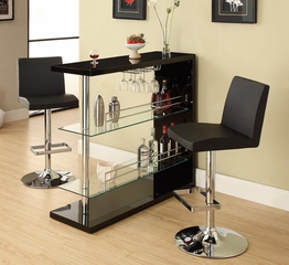 Contemporary Bar Set with Stools - 100165