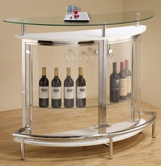 Contemporary Bar Unit with Clear Acrylic Front - 101066