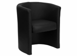 Contemporary Black Leather Reception / Side Chair - CP-SO26E01-LEATHER-GG