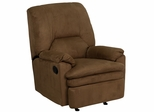 Contemporary Brown Microfiber Rocker Recliner - BT-70010-MIC-BROWN-GG