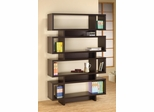 Contemporary Cappuccino Finish Open Bookcase - 800307