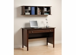 Contemporary Computer Desk and Wall Hutch in Espresso - Prepac Furniture - EWD-4730-K