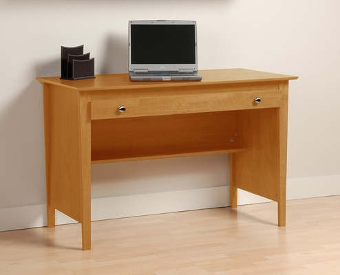 Contemporary Computer Desk in Maple - Prepac Furniture - MWD-4730