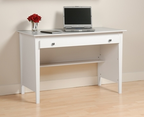 Contemporary Computer Desk in White - Prepac Furniture - WWD-4730