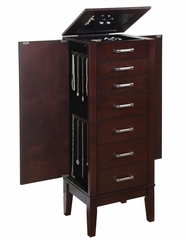"Contemporary ""Dark Espresso"" Jewelry Armoire - Powell Furniture - 383-317"