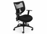 Contemporary Executive Mesh Ventilated Chair - OFM - 581-BLACK