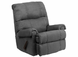 Contemporary Flatsuede Graphite Microfiber Rocker Recliner  - WM-8700-113-GG