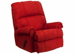 Contemporary Flatsuede Red Rock Microfiber Rocker Recliner - WM-8700-216-GG