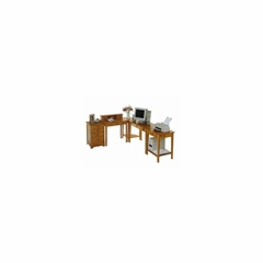 Contemporary L-Shape Computer Desk in Pine Finish - Winsome Trading