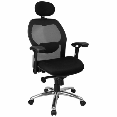 Contemporary Mesh Ventilated Tall Office Chair - LF-W42-HR-GG