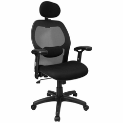 Contemporary Mesh Ventilated Tall Office Chair - LF-W42B-HR-GG