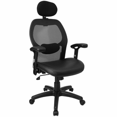 Contemporary Mesh Ventilated Tall Office Chair - LF-W42B-L-HR-GG
