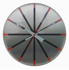 Contemporary Silver Wall Clock - 1010ALUMINUM
