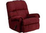 Contemporary Tahoe Burgundy Chenille Rocker Recliner  - WM-8700-213-GG