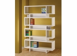 Contemporary White Finish Open Bookcase - 800308
