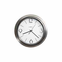 Conway Wall Clock in Brushed Nickel - Howard Miller