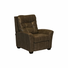Cooper Molasses Leather Recliner - Catnapper
