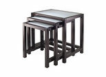 Copenhagen 3-Pc Nesting Table Set - Winsome Trading - 92333