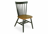 Copenhagen Chair with Plain Legs in Black / Cherry - C57-385