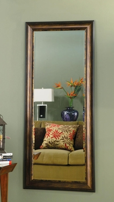 Copper & Gold Framed Floor Mirror - 900672