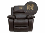 Coppin State University Eagles Leather Rocker Recliner - MEN-DA3439-91-BRN-41023-EMB-GG