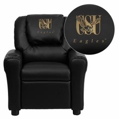 Coppin State University Eagles Vinyl Kids Recliner - DG-ULT-KID-BK-41023-EMB-GG