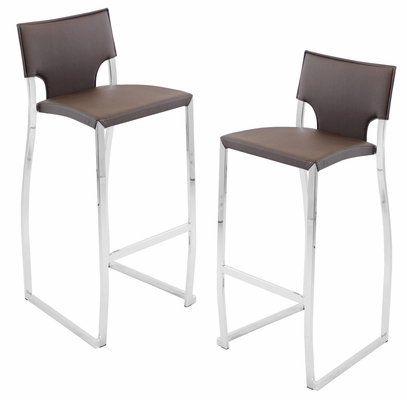Coppola Barstool Brown (Set of 2) - LumiSource - BS-JMB-COP-BN2