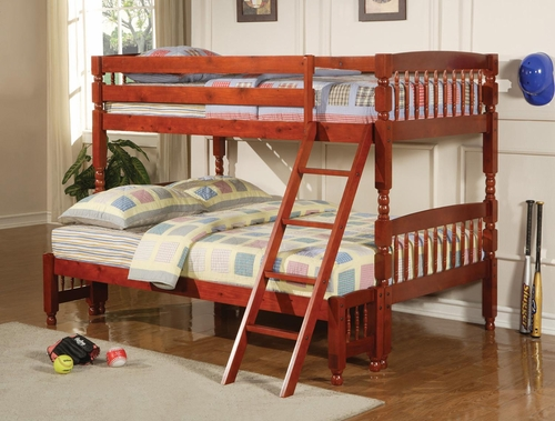 Coral Traditional Twin Over Full Bunk Bed - 460222