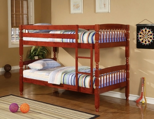 Coral Twin Bunk Bed in Cherry - 460221