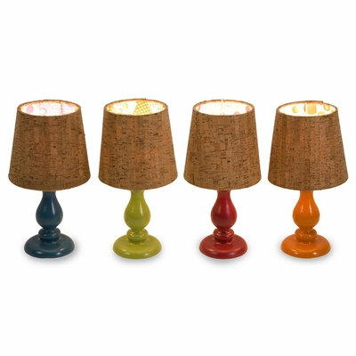 Corblin Cork Shade Mini Lamps (Set of 4) - IMAX - 29548-4