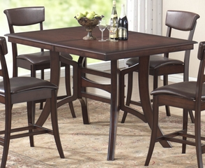 Cordova Counter Height Table in Dark Brown Cherry - Hillsdale Furniture - 4282DTB