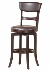 Cordova Swivel Bar Stool in Dark Brown Cherry - Hillsdale Furniture - 4282-830