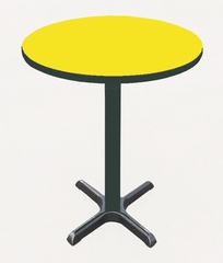 "Corell Breakroom Table -24"" Round x 42"" Tall with 22"" X-Base/Column -BXB24R"
