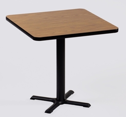 "Corell Breakroom Table -24"" x 24"" x 29"" with 22"" X-Base/Column -BXT24S"