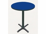 "Corell Breakroom Table -30"" Round x 42"" Tall with 22"" X-Base/Column -BXB30R"