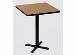 "Corell Breakroom Table -30"" x 30"" x 42"" with 22"" X-Base/Column -BXB30S"