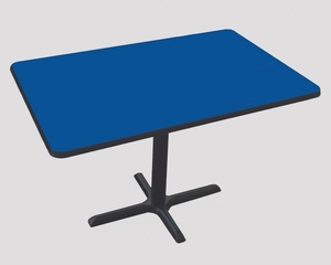 "Corell Breakroom Table -30"" x 42"" x 29"" with Cross Base/Column -BCT3042"