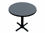 "Corell Breakroom Table -36"" Round x 29"" Tall with 30"" X-Base/Column -BXT36R"