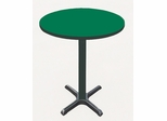 "Corell Breakroom Table -36"" Round x 42"" Tall with 30"" X-Base/Column -BXB36R"