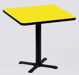 "Corell Breakroom Table -36"" x 36"" x 29"" with 30"" X-Base/Column -BXT36S"