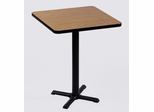 "Corell Breakroom Table -36"" x 36"" x 42"" with 30"" X-Base/Column -BXB36S"