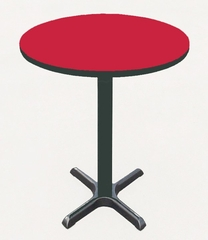 "Corell Breakroom Table -42"" Round x 42"" Tall with 33"" X-Base/Column -BXB42R"