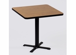 "Corell Breakroom Table -42"" x 42"" x 29"" with 33"" X-Base/Column -BXT42S"
