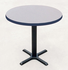 "Corell Breakroom Table -48"" Round x 29"" Tall with 33"" X-Base/Column -BXT48R"