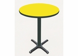 "Corell Breakroom Table -48"" Round x 42"" Tall with 33"" X-Base/Column -BXB48R"