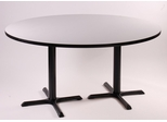 "Corell Breakroom Table -60"" Round x 29"" Tall with 2 X-Bases/Columns -BCT60R"