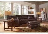 Cornell Bonded Leather Sofa Sectional and Ottoman - 503401