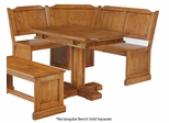 Corner Bench with Rectangular Kitchen Table in Cottage Oak - Home Styles - 5004-8003