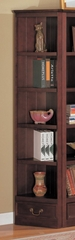 Corner Bookshelf in Cappuccino - Coaster