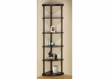 Corner Bookshelf in Dark Finish - 800279